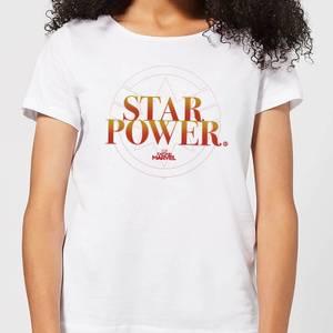 Captain Marvel Star Power Women's T-Shirt - White