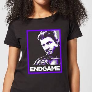 T-Shirt Avengers Endgame Hawkeye Poster - Nero - Donna