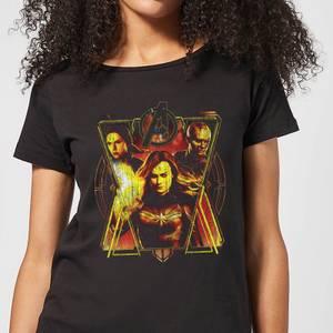 Avengers Endgame Distressed Sunburst Women's T-Shirt - Black