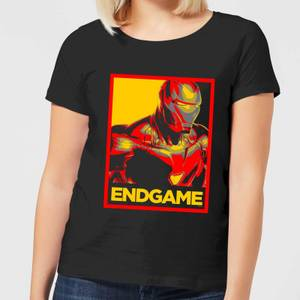 Avengers Endgame Iron Man Poster Women's T-Shirt - Black