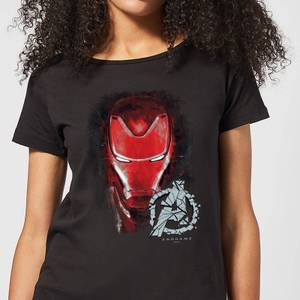 Avengers Endgame Iron Man Brushed Women's T-Shirt - Black