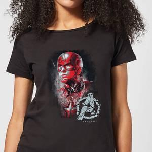 Avengers Endgame Captain America Brushed Women's T-Shirt - Black
