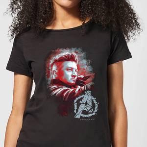 T-Shirt Avengers Endgame Hawkeye Brushed - Nero - Donna
