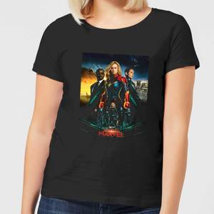 Captain Marvel Movie Starforce Poster dames t-shirt - Zwart