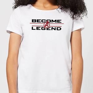 Avengers Endgame Become A Legend Women's T-Shirt - White