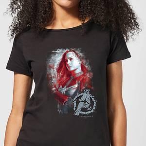 Avengers Endgame Captain Marvel Brushed Women's T-Shirt - Black