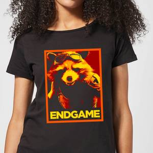Avengers Endgame Rocket Poster Women's T-Shirt - Black