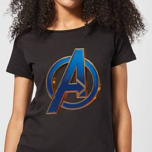 Avengers Endgame Heroic Logo Women's T-Shirt - Black