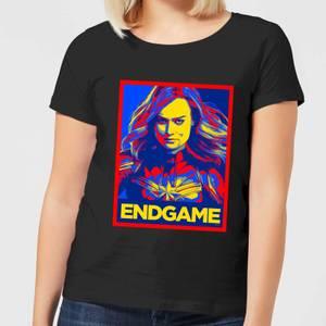 Avengers Endgame Captain Marvel Poster Women's T-Shirt - Black