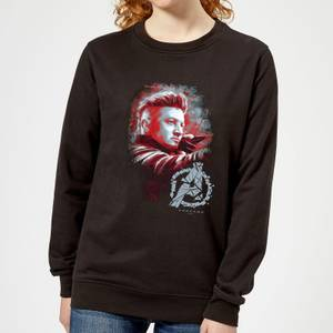 Sweat-shirt Avengers Endgame Hawkeye Brushed - Femme - Noir