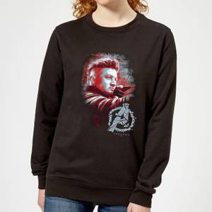 Avengers Endgame Hawkeye Brushed Women's Sweatshirt - Black