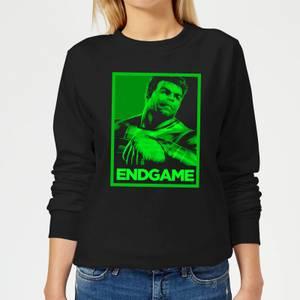 Avengers Endgame Hulk Poster Women's Sweatshirt - Black