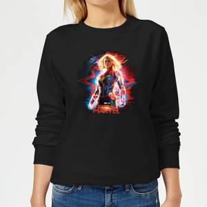 Captain Marvel Poster Women's Sweatshirt - Black