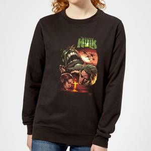 Marvel Incredible Hulk Dead Like Me Women's Sweatshirt - Black