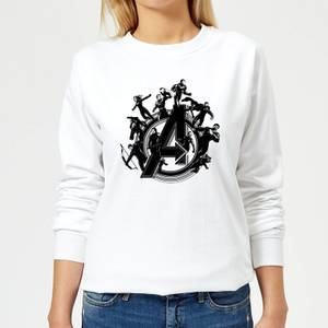Avengers Endgame Hero Circle Women's Sweatshirt - White