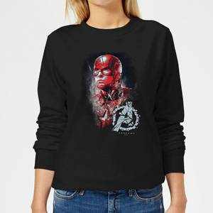 Avengers Endgame Captain America Brushed Women's Sweatshirt - Black