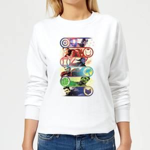 Avengers Endgame Original Heroes Women's Sweatshirt - White