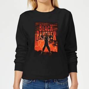 Marvel Universe Wakanda Lightning Women's Sweatshirt - Black