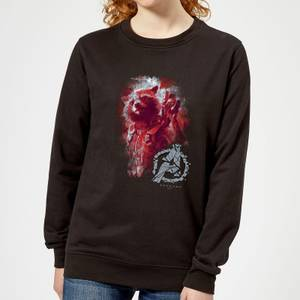 Avengers Endgame Rocket Brushed Women's Sweatshirt - Black