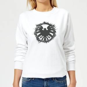 Marvel Avengers Agent Of SHIELD Logo Brushed Women's Sweatshirt - White
