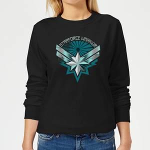 Captain Marvel Starforce Warrior Women's Sweatshirt - Black