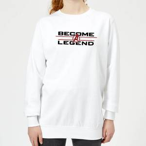 Avengers Endgame Become A Legend Women's Sweatshirt - White
