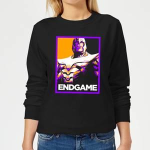 Avengers Endgame Thanos Poster Women's Sweatshirt - Black