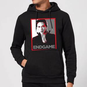 Avengers Endgame Black Widow Poster Hoodie - Black