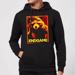 Avengers Endgame Rocket Poster Hoodie - Black