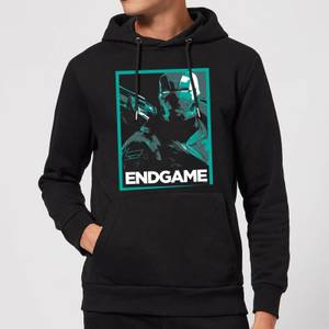 Avengers Endgame War Machine Poster Hoodie - Black