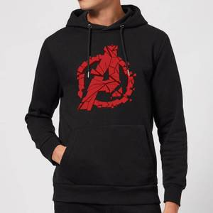Avengers Endgame Shattered Logo Hoodie - Black