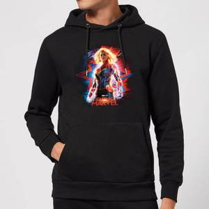 Captain Marvel Poster Hoodie - Black