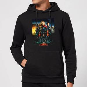 Felpa con cappuccio Captain Marvel Movie Starforce Poster - Nero