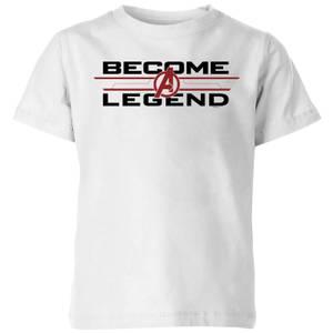 Avengers Endgame Become A Legend Kids' T-Shirt - Weiß