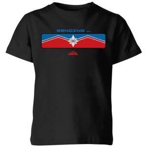 Captain Marvel Sending Kids' T-Shirt - Black