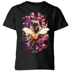 Avengers Endgame Splatter Kids' T-Shirt - Black