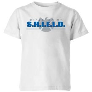 Marvel Avengers Director Of Shield Kids' T-Shirt - White
