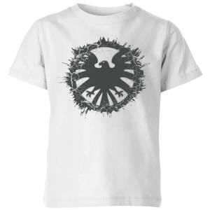 Marvel Avengers Agent Of SHIELD Logo Brushed Kids' T-Shirt - White