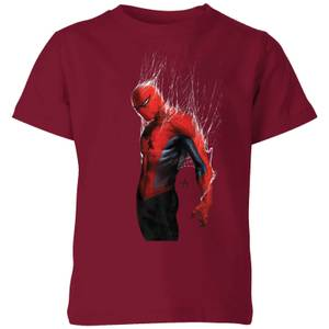 Marvel Spider-man Web Wrap Kids' T-Shirt - Burgundy