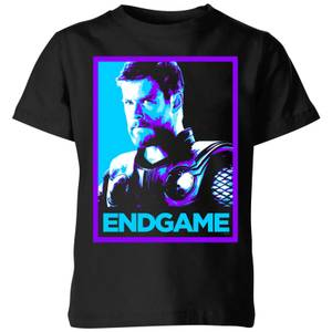 Avengers Endgame Thor Poster Kids' T-Shirt - Black