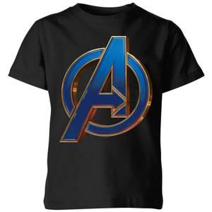 Avengers Endgame Heroic Logo Kids' T-Shirt - Black