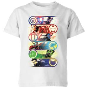 Avengers Endgame Original Heroes Kids' T-Shirt - White