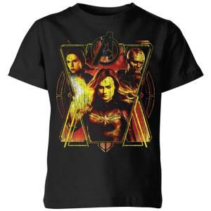 Avengers Endgame Distressed Sunburst Kids' T-Shirt - Black