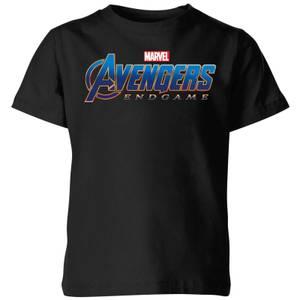 Camiseta Vengadores Endgame Logo - Niño - Negro
