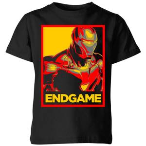 Avengers Endgame Iron Man Poster Kids' T-Shirt - Black