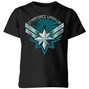 Captain Marvel Starforce Warrior Kids' T-Shirt - Black