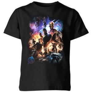 T-shirt Avengers Endgame Character Montage - Enfant - Noir