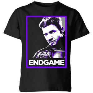 Avengers Endgame Hawkeye Poster Kids' T-Shirt - Black