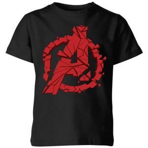 Avengers Endgame Shattered Logo Kids' T-Shirt - Black