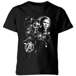 Avengers Endgame Mono Heroes Kids' T-Shirt - Black